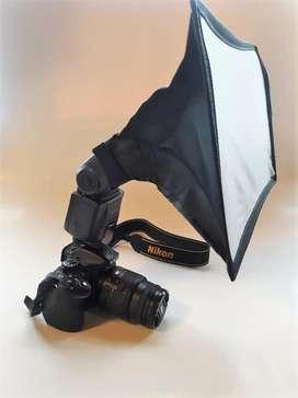 Camara Nikon D5200 Af-s flash Externo softbox tripode
