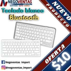 TECLADO BLANCO BLUETOOTH