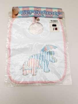 Babero Mediano para bebé Elefantes
