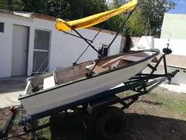 Vendo bote lagureno con trailer