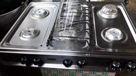 Cocina de mesa, marca Ecoline; 6 quemadores