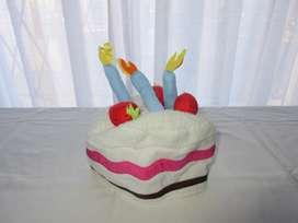 Sombrero de torta de cumpleaños para disfraz, importado de Europa!!, muy poco uso!!, impecable!