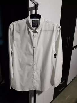 Camisa Manga Larga Blanca Talla S
