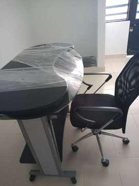Gangaso Escritorio doble con silla