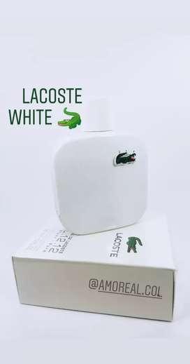 Perfume Lacoste Blanc White para Hombre
