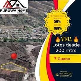 VENTA DE LOTES DE 200 METROS