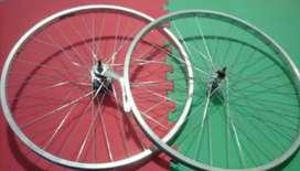 Juego rueda playera rodado 26 contrapedal