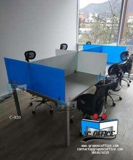 Amoblamos oficinas:Puestos para call center