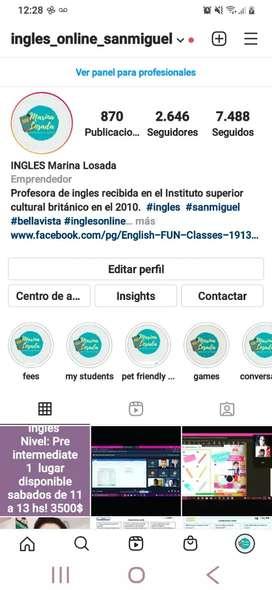 Inglés personalizado online