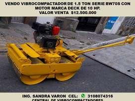 VENDO VIBROCOMPACTADOR DE 1.5 TON