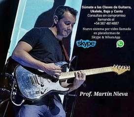 Clase de Canto, Guitarra, Bajo y Ukelele
