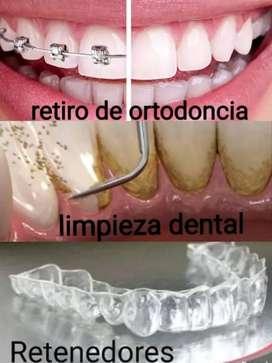 Limpieza oral y retiro de ortodoncia,