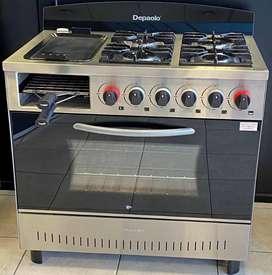 Cocina 4 hornallas + plancha + tostador