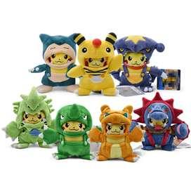 Hermosos Peluches Pikachu Disfrazado De Otros Pokémon Variedad