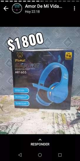 Auriculares manos libres, auriculares para Bluetooth recargable (inalámbricos) auriculares gamers