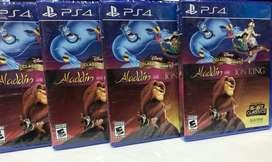 Aladdin And The Lion King Ps4 Nuevo Sellado Stock