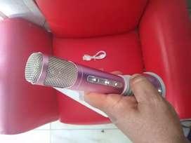 Micrófono karaoke instrumental