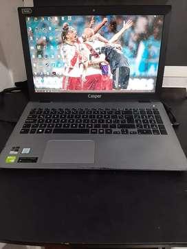 Laptop CASPER I7 última generación 12GB de RAM y 1 TB DD