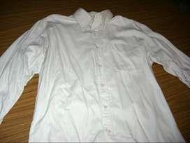Camisa Blanca Sport Hombre / Talle S