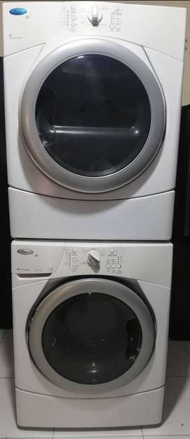 Oferta combo lavadora y secadora a gas whirlpool duet