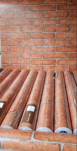 Papel decorativo pvc por rollos de 10 metros  x 45 cm