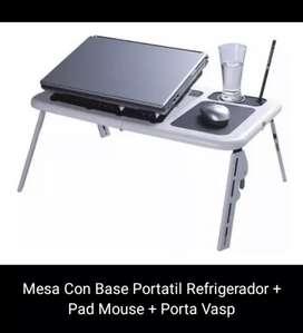 Mesa con base portatil refrigerador pad mouse al por mayor y al detal