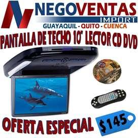 PANTALLA DE TECHO DE 10 PULGADAS CON LECTOR DE CD DVD PARA CARROS