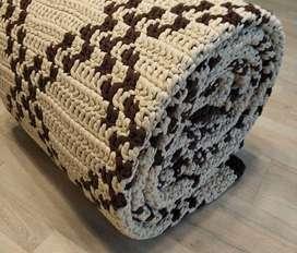 Alfombra 2 x 3 m tejida en algodón manualmente.(Pagos en 3 cuotas sin interés)