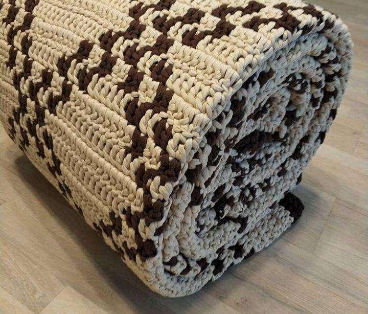 Alfombra 2 x 3 m tejida en algodón manualmente.(Pagos en 3 cuotas sin interés) 0