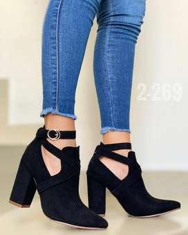 botines negro