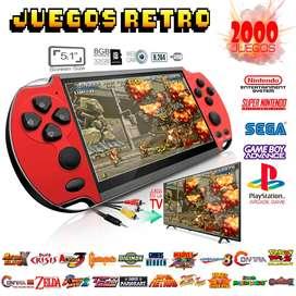 Mini Consola Snes PS1 Retro Portátil de bolsillo PLUS 2000 juegos en 1 (RAC_00616)