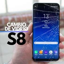 Reparación - Cambio de vidrio para Samsung S8 cristal Gorilla Glass