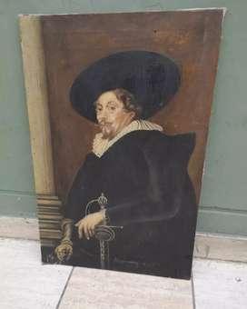 Antiguo oleo en lienzo y bastidor sin marco mide la 69x49 cm