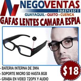 GAFAS LENTES CAMARA ESPIA EN DESCUENTO EXCLUSIVO DE NEGOVENTAS