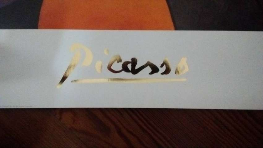 "Poster Lámina  ""La mujer con la flor"" de Picasso 0"