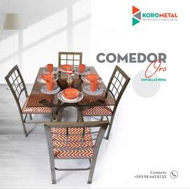 Mesas y sillas de exteriores o cocina