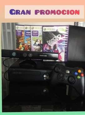 Venta Xbox 360+kinect+Control+2 juegos
