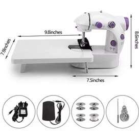 Maquina de coser portátil mini eléctrica con mesa
