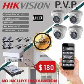 Kit de 4 Cámaras HIKVISION HD