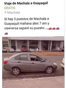 Viaje de Machala a Guayaquil y viseversa
