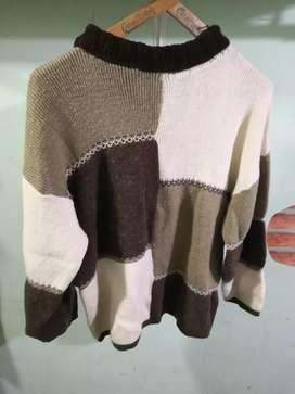 Sweater Pullover Grueso Mujer  Talle Grande