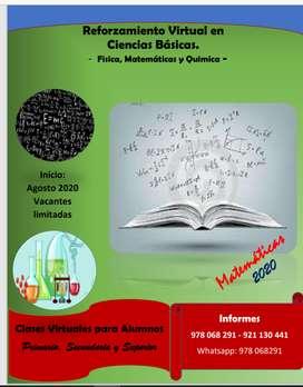 CLASES DE MATEMÁTICA, INFORMÁTICA Y OTROS