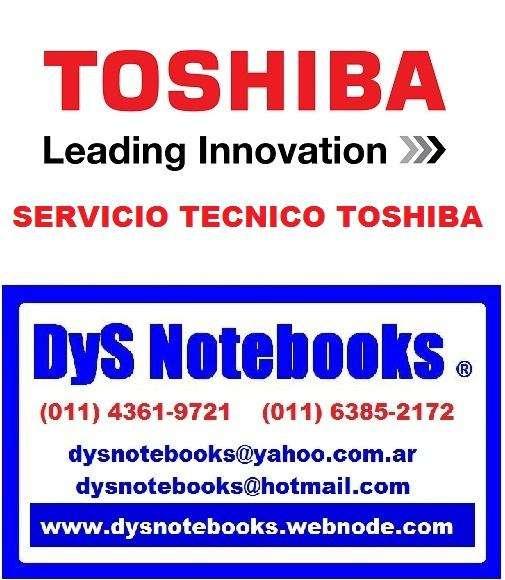 TOSHIBA SERVICIO TECNICO NOTEBOOK NETBOOK LAPTOP 0