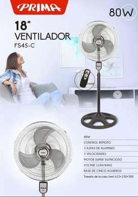 Ventilador Prima control remoto metal