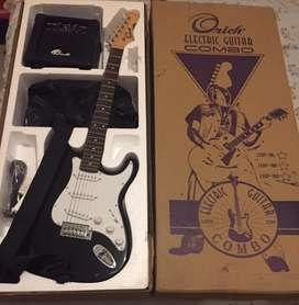 Guitarra electrica (combo) amplificador 10 W -estuche-correak