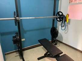 Gimnasio multifuncional Sport fitness y Rack