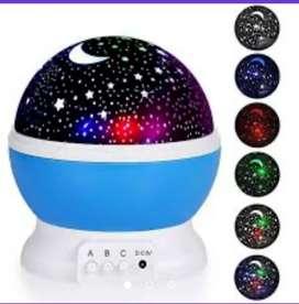 Lámpara rotatoria proyección cielo estrellas