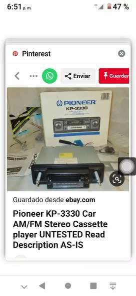 AUTORADIOCASSETTE PIONEER MODELO : KP-3330 AUTORADIO CASSETTE AM/FM STEREO CASI NUEVO NUEVO