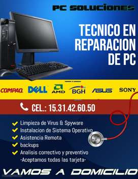 tecnico en reparacion de pc, notebook y netbook todas las marcas
