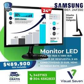 "Monitor 24"" Plano Samsung"